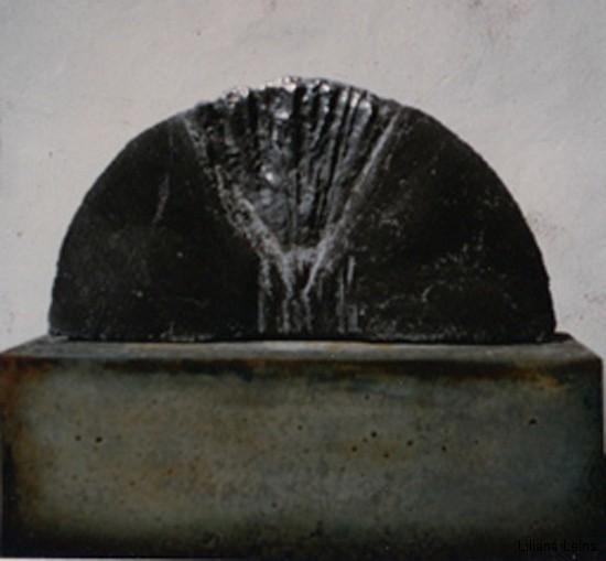 20-Halbkreis, Beton bemalt, cm. 40 ca.