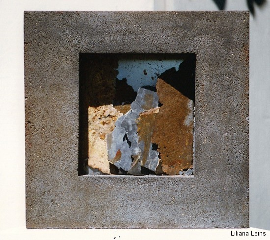 25-Schichten, Beton und Eisen, cm. 43 x 43