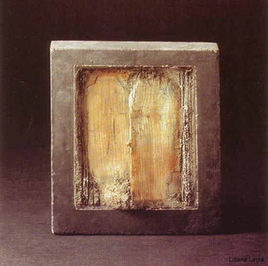 23-Odissea, Beton und Holz, cm. 40 x 40