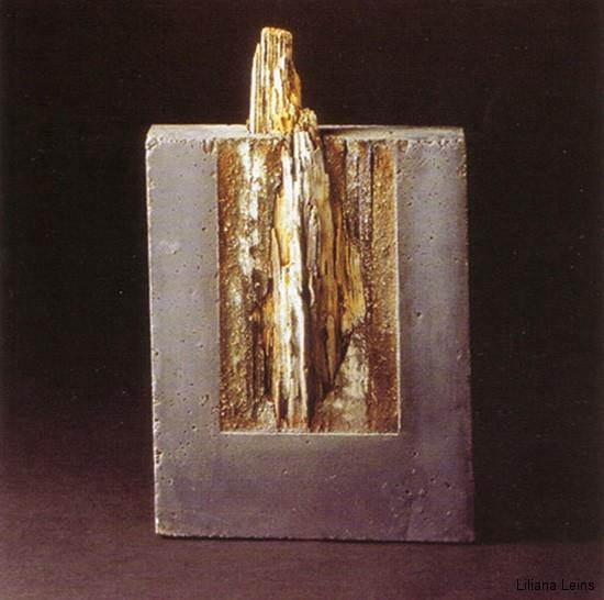 24-Odissea, Beton und Holz, cm. 60 x 40