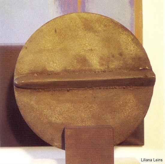 13-Diskus, terracotta, Durchmesser cm. 50