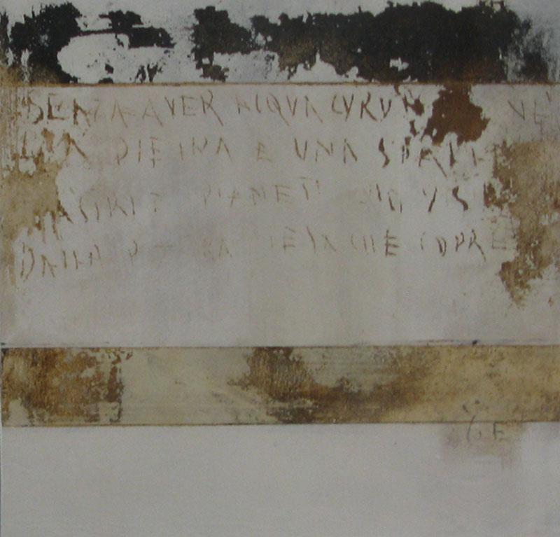 bianco muro di Spagna, Acryl auf Leinwand